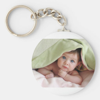 Bebé del peekaboo llavero redondo tipo pin
