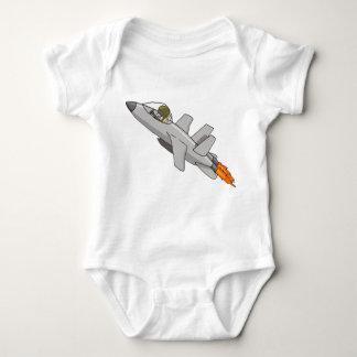Bebé del piloto de caza a reacción body para bebé