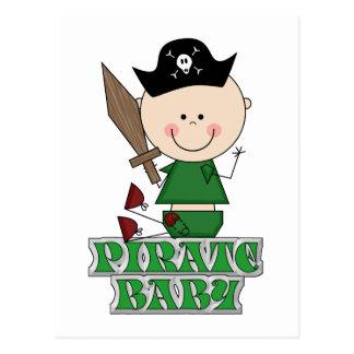 Bebé del pirata postales