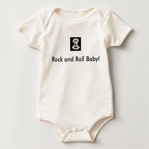Bebé del rock-and-roll body para bebé