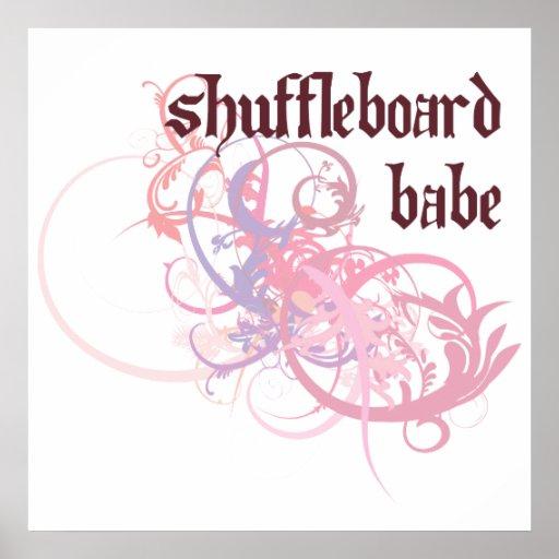 Bebé del Shuffleboard Poster