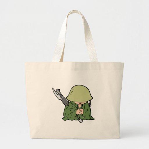 Bebé del soldado bolsa tela grande