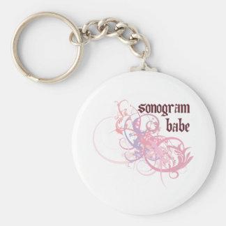 Bebé del Sonogram Llavero Personalizado