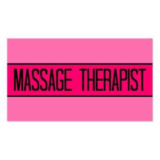Bebé del terapeuta del masaje y tarjeta de visita