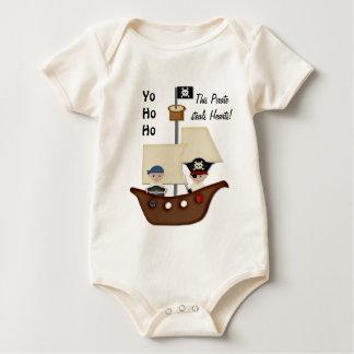 Bebé del tesoro del barco pirata mamelucos