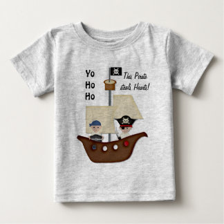 Bebé del tesoro del barco pirata remera