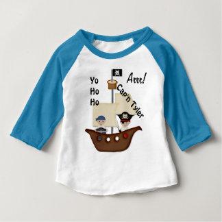 Bebé del tesoro del barco pirata remeras
