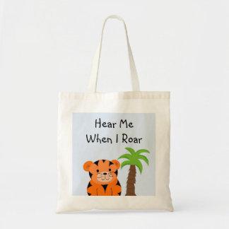 Bebé del tigre bolsa tela barata