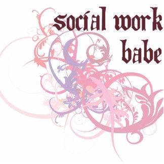 Bebé del trabajo social escultura fotografica