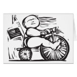 Bebé del triciclo felicitación