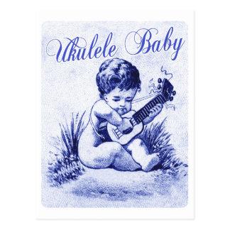 Bebé del Ukulele Tarjetas Postales