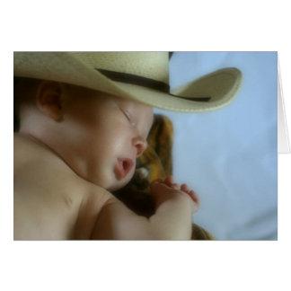 Bebé del vaquero tarjeta