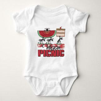 Bebé del vegano de la comida campestre del vegano t-shirt