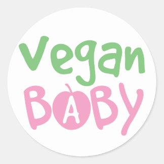Bebé del vegano pegatina redonda
