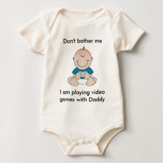 Bebé del videojuego body para bebé