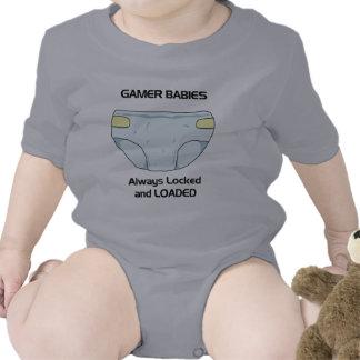 Bebé del videojugador traje de bebé