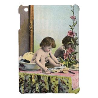 Bebé del vintage en un tocador iPad mini cárcasa