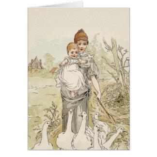 Bebé del vintage tarjeta de felicitación