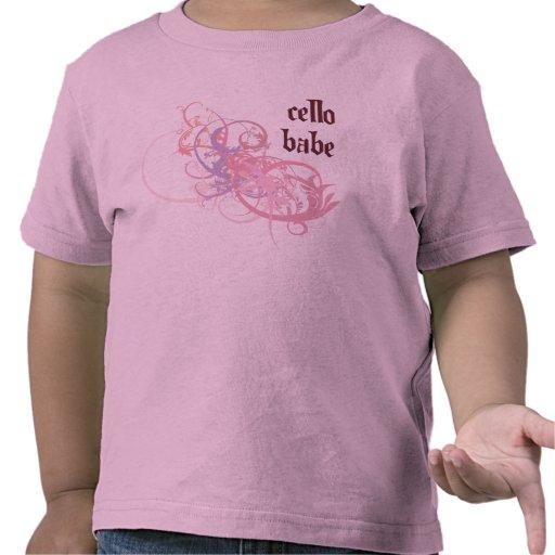 Bebé del violoncelo camisetas