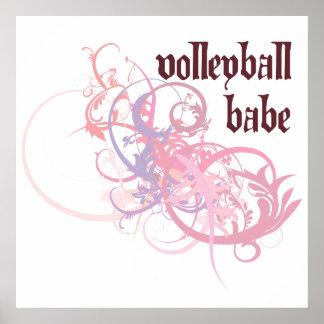 Bebé del voleibol poster