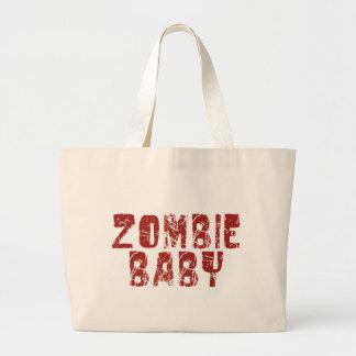 bebé del zombi bolsa tela grande