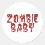 bebé del zombi etiquetas redondas