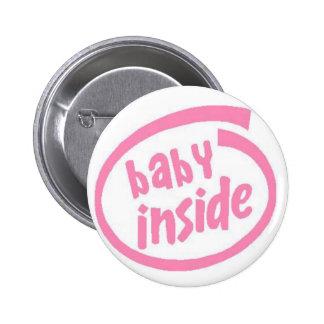 Bebé dentro del botón - rosa pin