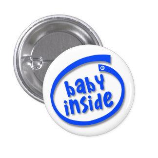Bebé dentro pin redondo de 1 pulgada