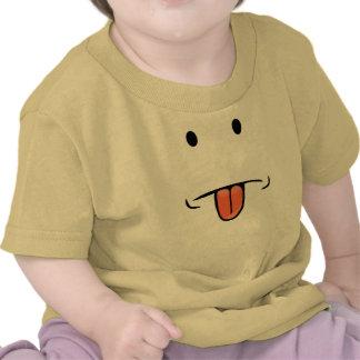 Bebé divertido de la cara camiseta