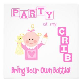 Bebé divertido invitación infantil del personaliza