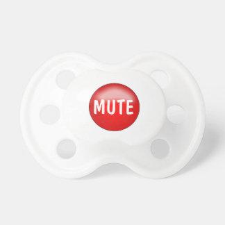 Bebé divertido Soother o Binkie del botón enmudece Chupetes De Bebe