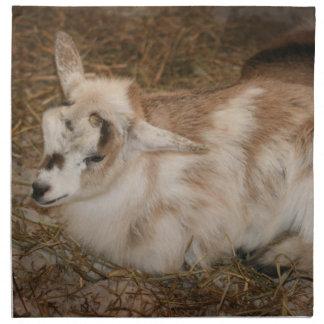 Bebé doeling de la pequeña cabra peluda servilleta imprimida