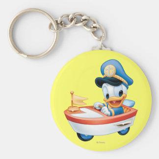 Bebé Donald en barco Llavero Redondo Tipo Pin
