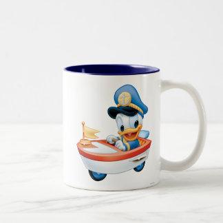 Bebé Donald en barco Taza De Café