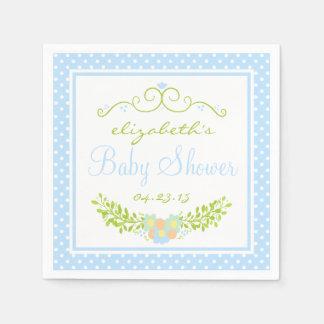 Bebé Ducha-Floral Servilletas Desechables