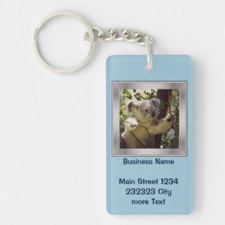 bebé dulce de la koala llavero rectangular acrílico a una cara