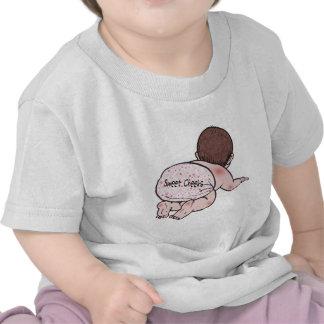 Bebé dulce de las mejillas camiseta