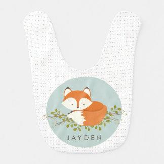 Bebé dulce del Fox del arbolado Baberos