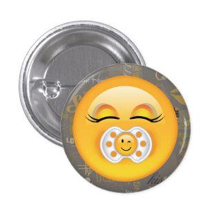 Bebé dulce ID231 de Emoji Pin Redondo De 1 Pulgada
