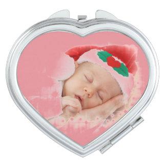 Bebé durmiente de Santa Espejo De Maquillaje