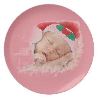 Bebé durmiente de Santa Platos