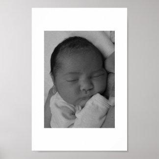 Bebé durmiente póster