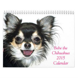 Bebe el calendario de la chihuahua 2015