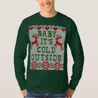 Bebé él estilo feo del suéter del exterior frío de playera