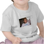 bebé elegante de la boca camiseta