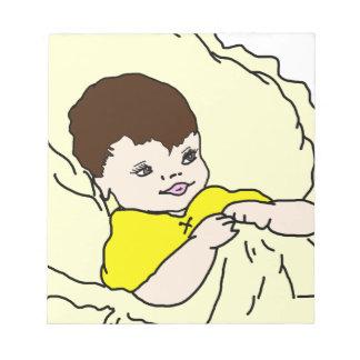 Bebé en amarillo blocs de notas