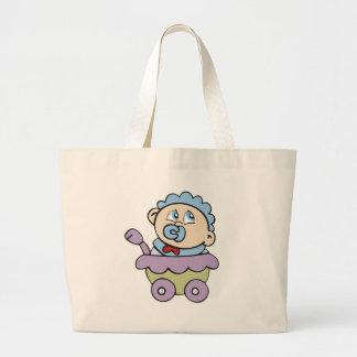 Bebé en carro bolsa tela grande
