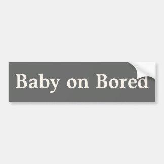 Bebé en el pegatina aburrido pegatina para auto