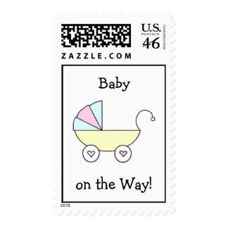 Bebé en el sello de la manera