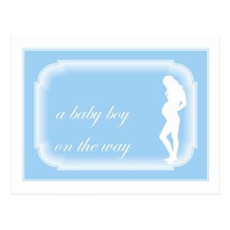Bebé en la manera postal